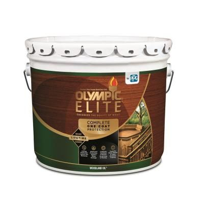 Olympic Maximum 5 Gal Cedar Naturaltone Semi Transparent Exterior Stain And Sealant In One Oly716 05 Exterior Stain Exterior Wood Stain Semi Transparent Stain