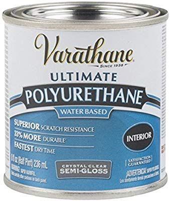 Rust Oleum 200161h Varathane Water Based Ultimate Polyurethane Crystal Clear Semi Gloss 8 Oz Varathane Staining Wood Interior Wood Stain