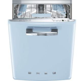 Smeg Stfabupb Pastel Blue 24 Inch 50 S Style Dishwasher Smeg Integrated Dishwasher Fully Integrated Dishwasher
