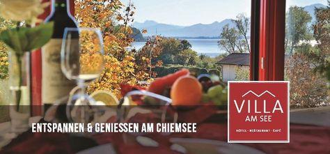 Herzlich willkommen im ***Superior Hotel - Restaurant 'Villa am See' in Prien am Chiemsee!Wir freuen uns, wenn wir Sie demnächst bei uns begrüßen dürfen. Es
