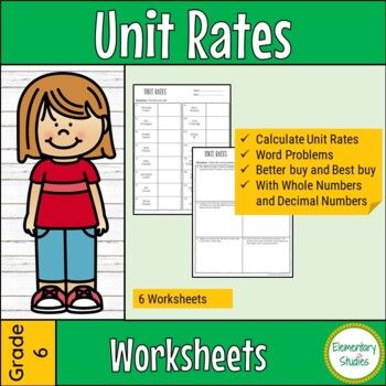 Two Interactive Notebook Pages That Can Be Used To Teach Setting Up And Computing Unit Rates Associated With Unit Rate Math Interactive Notebook Math Notebooks