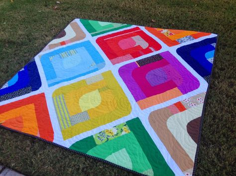 """Quilt Dad: Paper Lanterns: A tutorial for """"updating"""" a quilt pattern."""