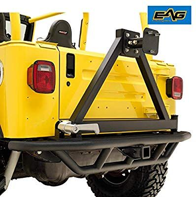 Eag Rear Bumper With Tire Carrier And 2 Inch Hitch Receiver Fit