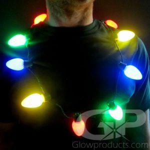 Large Christmas Bulb Light Necklaces Christmas Bulbs Lighted Necklace Christmas Light Necklace