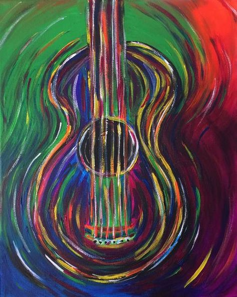 Abstract Guitar by Beth Boudreaux
