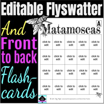 Editable Flyswatter And Flashcard Template Pdf And Google