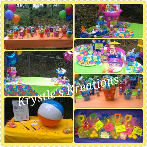 Beach Themed Party Backyard Beach Sand Pails Party Favors Balloons