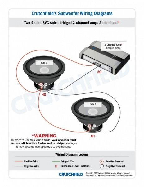 Subwoofer Wiring Diagram 4 Ohm Subwoofer Wiring Car Audio Subwoofers Subwoofer