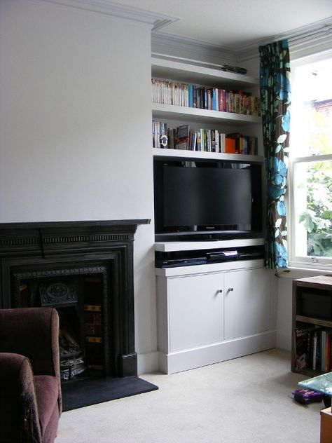 Cupboards & Shelves in Alcove #lounge
