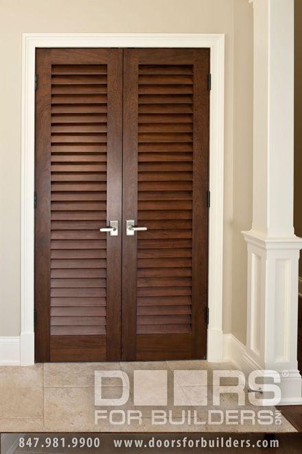 Custom Double Louvre Door For Interior Wood Doors From Builders Inc