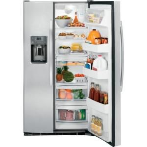 Ge 25 3 Cu Ft Side By Side Refrigerator In Stainless Steel