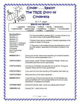 Free Readers Theater Script Fractured Fairy Tale Cinderella