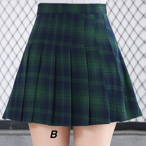 NEW- 90s grunge GREEN PLAID OUTFIT – kokopiecoco