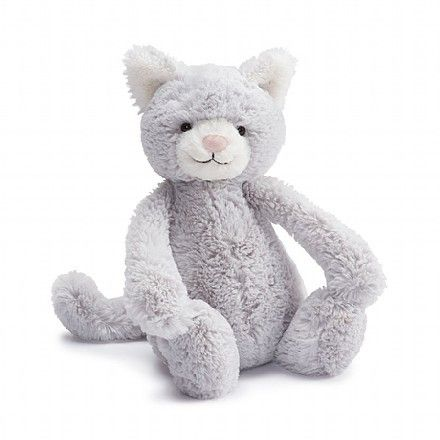 So, so soft and ever so pretty, Bashful Kitty is a brilliant soft toy buddy for bedtime. This dreamy cat, with her cloudy-soft fur and sugar pink nose, is just so relaxed, you can almost hear her purr! She adores having her paws stroked and plump tummy tickled, in return she'll give great nuzzles any time day or night.
