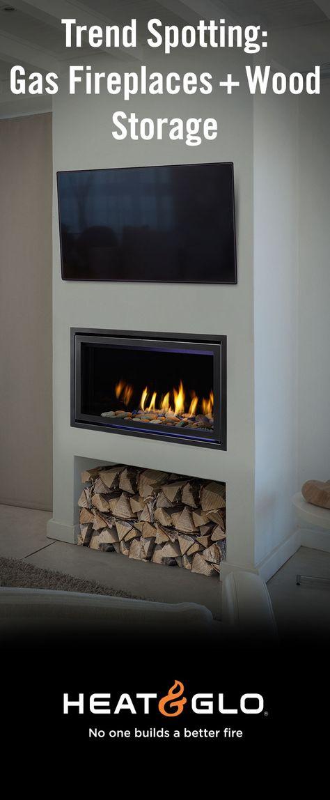 Trend Spotting Wood Storage Gas Fireplaces Fireplace Design Fireplace Accessories Gas Fireplace
