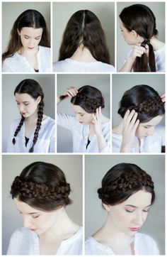 Milk Maid Braid DIY Perfect For When My Hair Is Feeling Less Than Cooperative Mexican HairstylesSimple