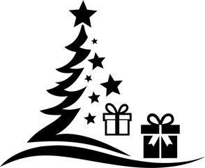 Christmas Tree Stars Vector Icon Silhouette Affiliate Stars Tree Christmas Silhouette Icon Ad In 2020 Christmas Tree Star Graphic Design Art Vector Icons