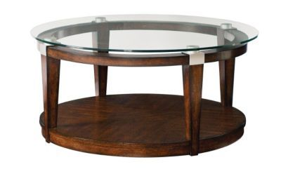 Hammary Furniture Solitaire Round Coffee Table Glass Top Coffee Table Coffee Table Round Glass Coffee Table