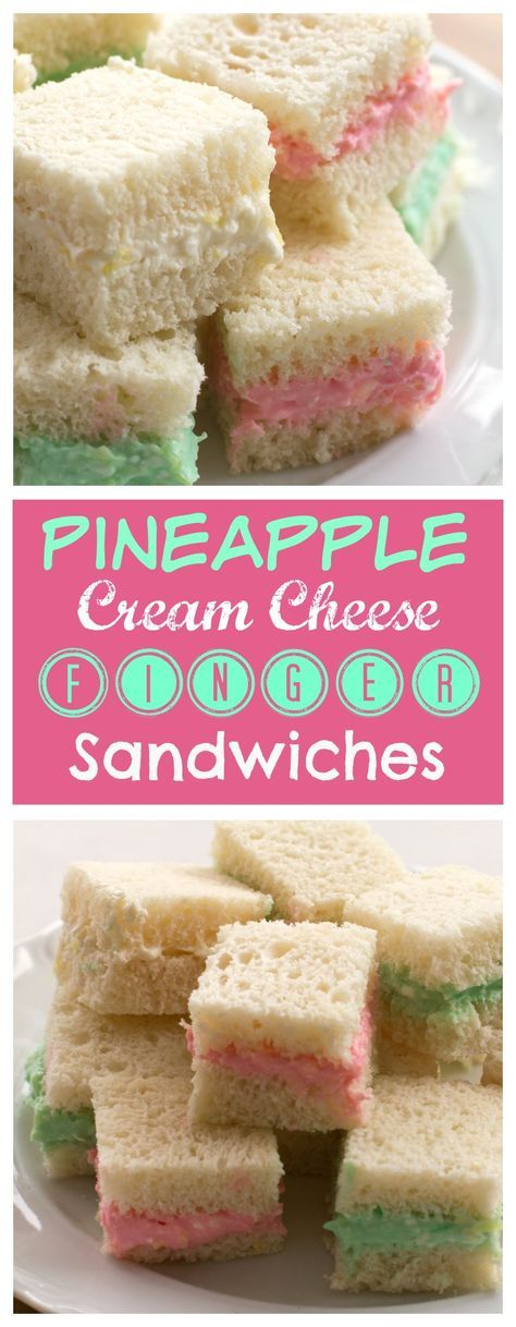 Add These Little Pineapple Cream Cheese Finger Sandwiches To Your Recipe Collection They Are Great For Baby Showers Brunch Or Any Holiday Party