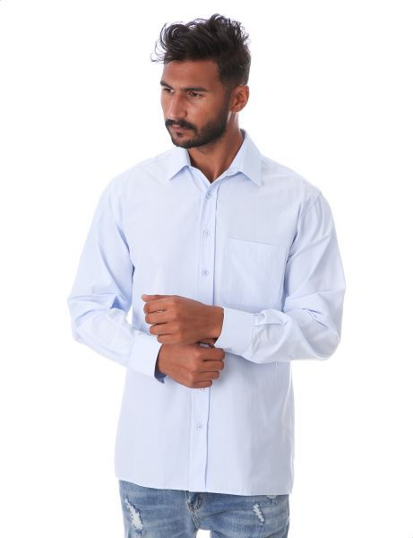 قميص بكم طويل للرجال من بي تي ام ازرق فاتح Shop Mens Fashion Mens Fashion Fashion