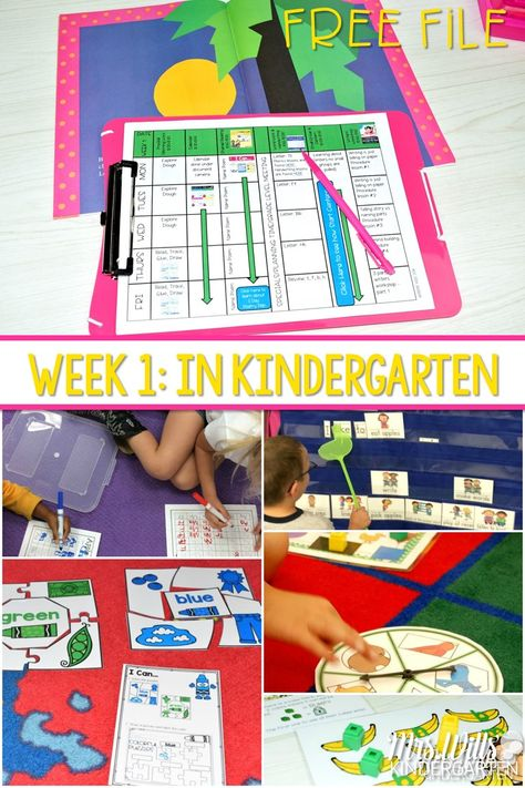 The first week in kindergarten lesson plans (Free file too!)