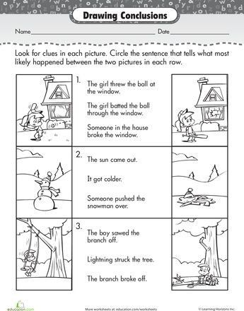 Drawing Conclusions Worksheets 4th Grade Story Prehension Drawing Conclusions Drawing Conclusions Teaching Reading Comprehension Reading Comprehension Skills