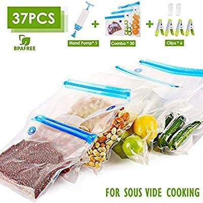 These Are Fantastic Amazon Com Vicarko Vacuum Zipper Bags With Handheld Vacuum Pump Vacuum Sealer Bags Sou Vacuum Sealer Bags Freezer Storage Sealer Bags