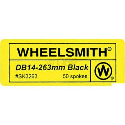 Wheelsmith DB14 Spokes 2.0//1.7 x 265mm Black Bag of 50