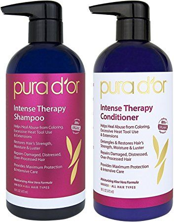 Pura D Or Intense Hair Repair Therapy 2 Piece System For Damaged Distressed Over Processed Hair Review Hair Repair Shampoo Conditioner