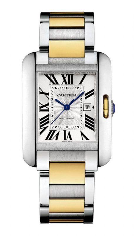 50c3a4071d6 Relógio Cartier™ – Tank Anglaise Grand – Misto – Réplica Premium AAA+