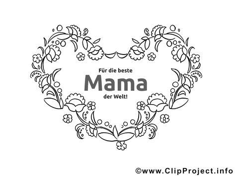 Ranken Herz Fur Mama Ausmalbilder Zum Muttertag Herz