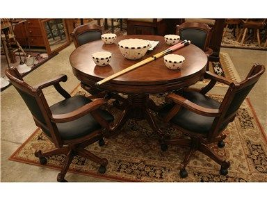 48 inch round game table set includes accessories and 4 caster chair anneu0027s attic pinterest game tables and attic