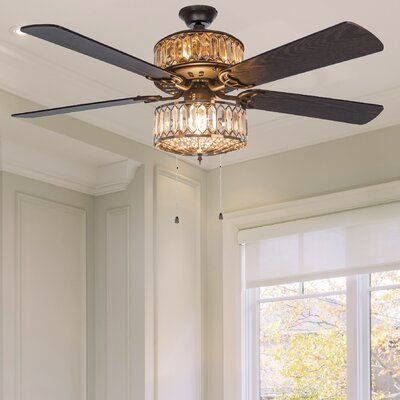 Ellington Ant54av5wcr Antoinette 5 Blade Ceiling Fan In Antique