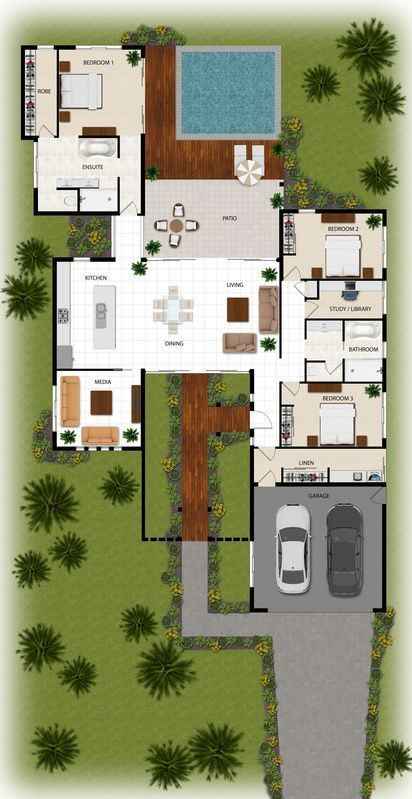 2d Colour Floor Plan For A Building Company Manunda Qld Wohnung Wohnzimmer Hausdekor Wohnideen Hausd Architectural Floor Plans House Layouts House Plans
