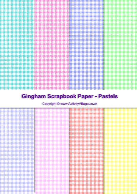 Gingham Scrapbook Paper Dark Collection Gingham Digital Paper