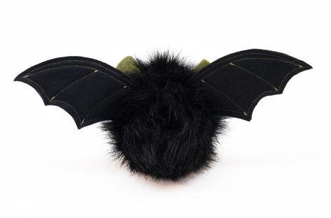 Fang the Green Eared Black Bat Stuffed Animal Plush Toy