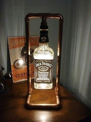 Jd Steampunk Copper Bottle Lamp Table Light Jack Daniels Vintage Retro Led Bottle Lamp Diy Bottle Lamp Diy Bottle