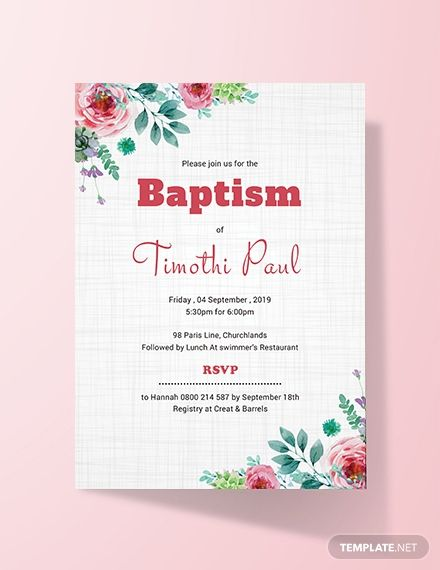 Free Simple Baptism Invitation Card Template Word Doc Psd Indesign Apple Mac Pages Publisher Invitation Card Format Invitation Templates Word Invitation Template