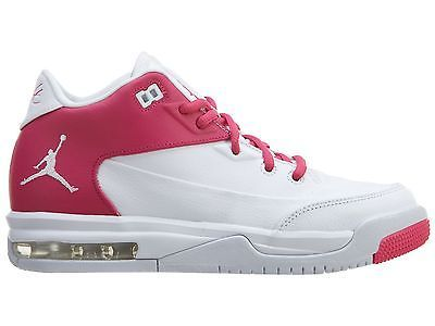 new arrival d17e4 a9fbc Nike Girls Jordan Flight Origin 3 Gs Big Kids 820250-161 White Pink Shoes  Sz 4