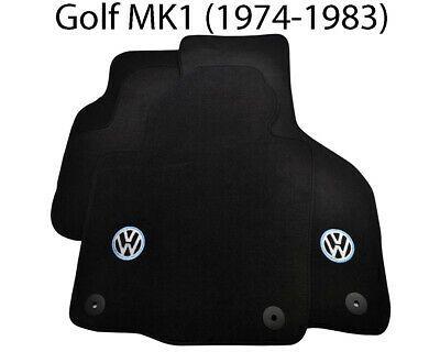 Black Floor Mats For Volkswagen Golf Mk1 With Vw Emblem And Clips Lhd Side New In 2020 Vw Emblem Volkswagen Up Volkswagen Phaeton