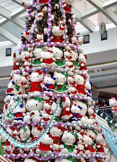 Ten Plushie Christmas Trees Made From Cuddly Toys Hello Kitty Christmas Tree Hello Kitty Christmas Hello Kitty Items