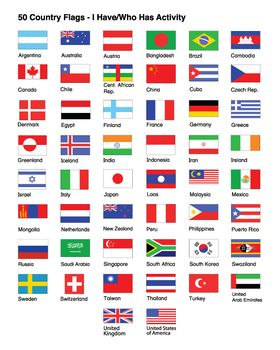 World Flags I Have Who Has Activity Flags Of The World Country Flag List All World Flags