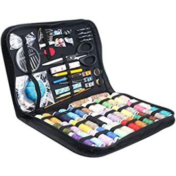 D D De Costura Cesta Organizador Con Accesorios Hogar Caja De Costura Kit De Costura Básicos Para Hogar Y Viaje Color Cajita De Costura Organizadores Cajas