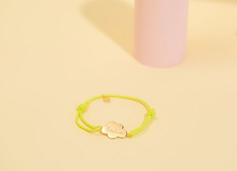 Personalise our Cloud Bracelet with a name of your choice! #kidsaccessories #kidsjewellery