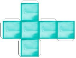 Block Of Diamond Papercraft By Jessica23809 Minecraft Templates Papercraft Minecraft Skin Minecraft Blocks