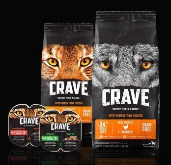 Crave Is A Brand Of Dog And Cat Food Crafted To Nourish Pets Through High Protein Meat First Grain Free Recipes Like The Diets Of T Dry Cat Food Dry Dog Food Protein