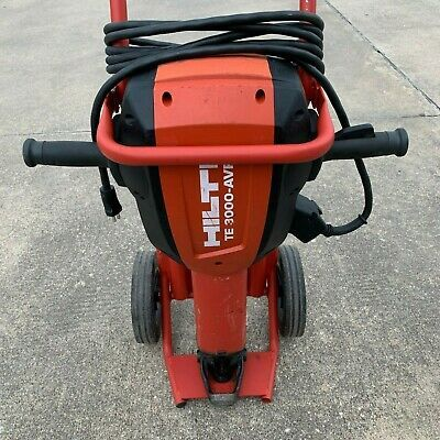 Hilti Te 3000 Avr Demolition Jackhammer Breaker Demolition Hammer Te 3000 Ebay In 2020 Demolition Hammer Heavy Equipment New Chrome