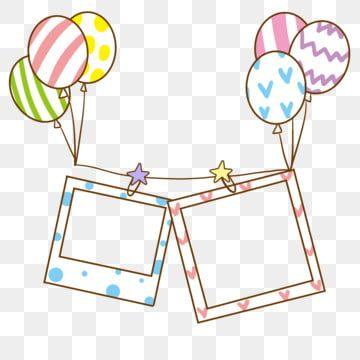 إطار الصورة بالون الكرتون التوضيح إطار الصورة بالون الإطار إطار الصورة التوضيح Png وملف Psd للتحميل مجانا Cartoon Clip Art Simple Photo Frame Clip Art Borders
