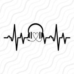 Music Heartbeat SVG Music SVG Heartbeat SVG Cut table | Etsy