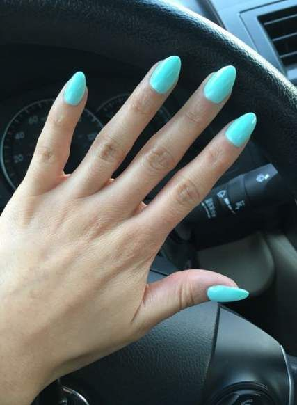 Nails Blue Almond Short 20 Ideas For 2019 Short Almond Nails